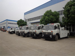 Production Line of wrecker recovery tow Truck