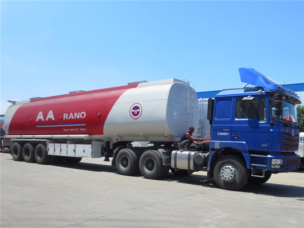 50000 liters 3 axle oil tank transport semi trailer we export to AA Rano