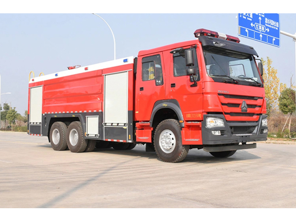 10ton Sinotruk HOWO Euro3 Water Foam Dry Powder Combined Fire Truck