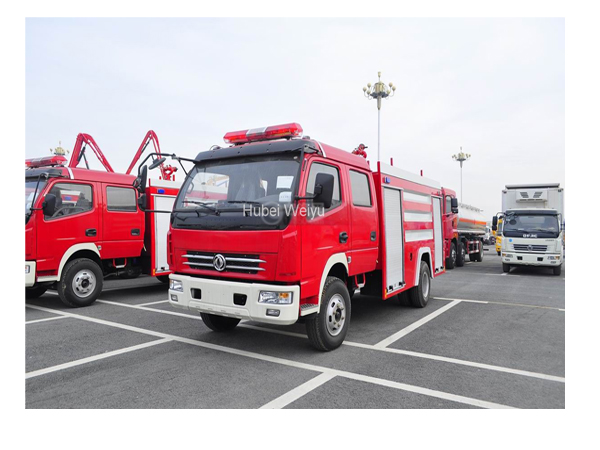 Dongfeng 6cbm Fire Fighting Superstructure Carrier Truck for Sales