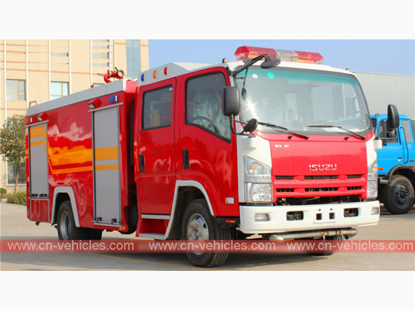 Isuzu 190hp ELG 5000liters Foam Tanker Fire Fighting Truck