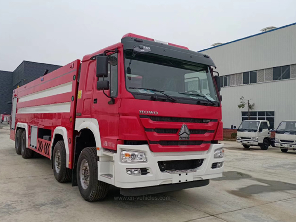 Sinotruck Howo 20tons to 25tons Foam Fighting Fire Truck For Sales
