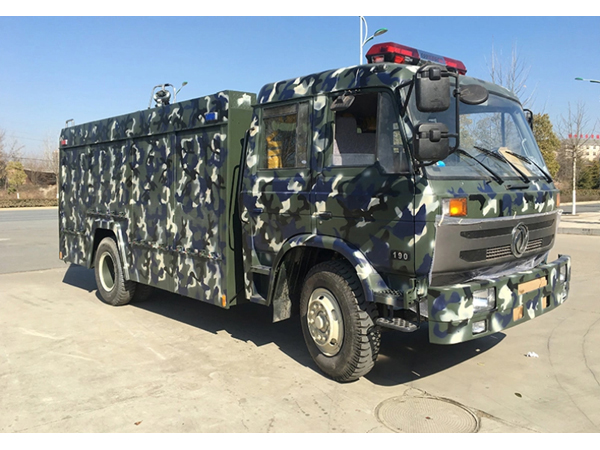 8 Tons Dongfeng Dry Powder RHD Fire Fighting Truck For Army Use