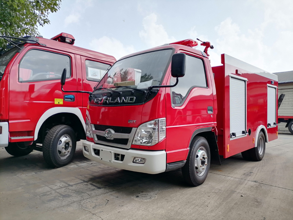 Forland 2000liters Water Tanker Fire Fighting Rescue Engine Truck With Fuel Efficient Technology