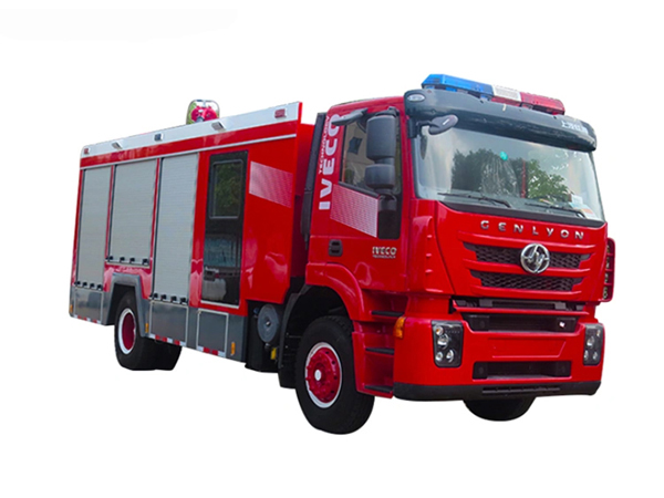 Iveco 8000L Water Foam Fire Fighting Rescue Truck with Crew Cab