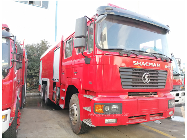 Shac Shacman L3000 12000L Water and 4000L Foam Tanker Fire Fighting Truck with English Operation Manuals