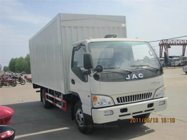 China Euro4 5tons JAC Hydraulic Open Type Wing Van Truck