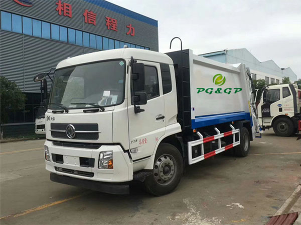 New design Dongfeng dfac Brand 10cbm Rubbish Collection Can Kitchen Electric Garbage Transport Truck For 120Liter 240Liter Garbage Bin