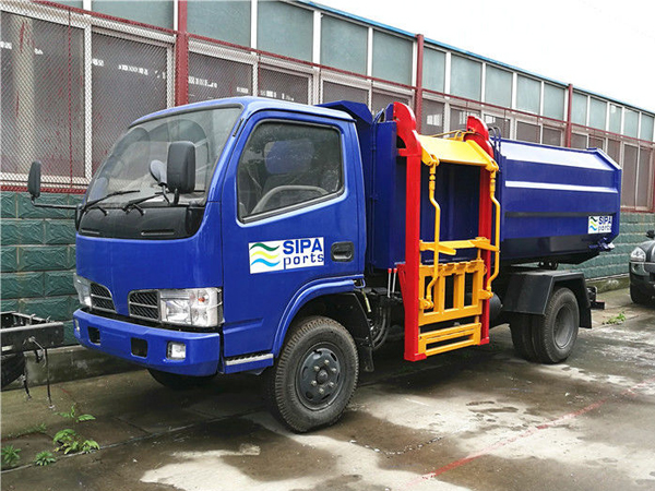 Full Automatic Rubbish Collection Truck Hydraulic Control Pick Up Garbage Truck
