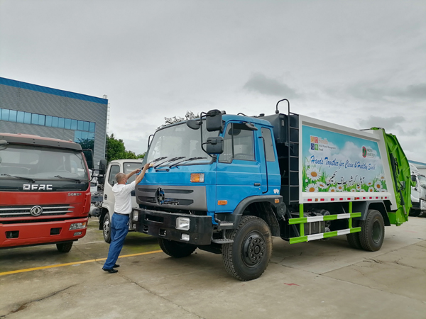 Dongfeng RHD 12CBM to 18CBM City Cleaning Garbage Compactor Compress Truck With Compression System