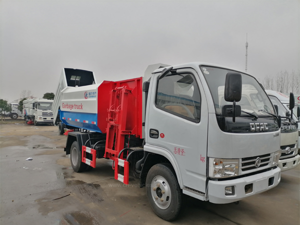 Dongfeng 3 ton to 22ton Side Load Garbage Truck With Lift System For Transport Food Waste