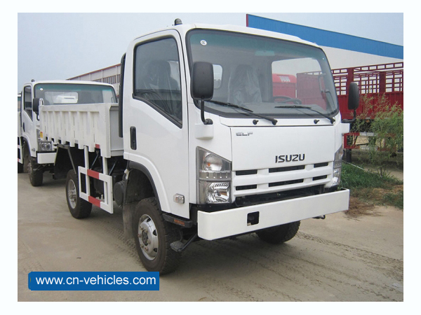 ISUZU 6 Wheels 600P Small 8000kg Garbage Transport Dump Truck For Sales