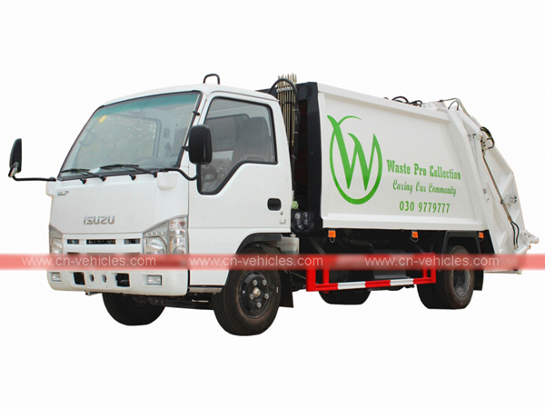 Customer purchased ISUZU ELF 5cbm Garbage Compactor Truck