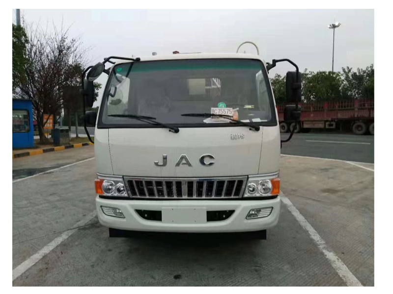5000liters JAC Rear Load Garbage Compactor Trucks for Sales