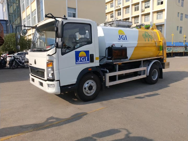 Sinotruck howo 5cbm Side Loading Kitchen Food Waste Garbage Truck