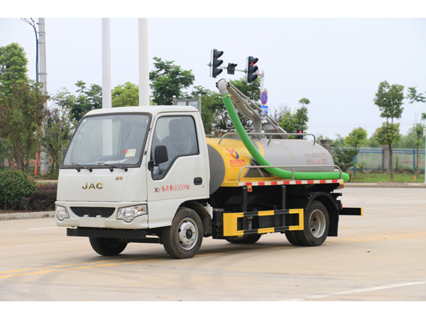 JAC Mini 1500 liter Tanker Sewer Suction Truck With Jetting Pump