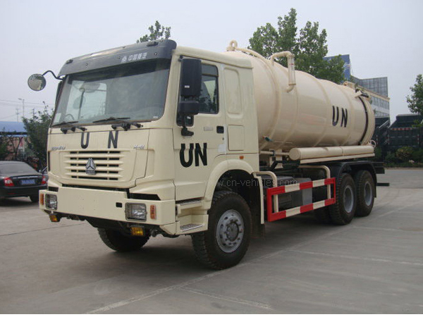 10m3 to 12m3 Full Driving 12 Wheel UN Sewage Tanker Truck with Self Dumping System
