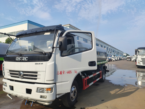 DONGFENG DOLLICAR 5CBM Water Spray Sprinkle Bowser Truck With Sprinkling Wagon Tanker